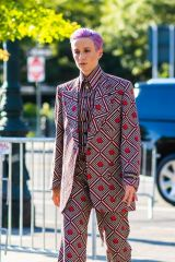 Megan Rapinoe Seen for the first time since Victoria's Secret signed her on as a spokesperson as she arrives to the Tribeca Film Festival in New York