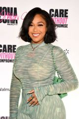 Jordyn Woods Attends UOMA Pride Month and Juneteenth Celebration launch event in West Hollywood