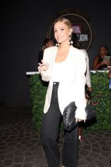 Ashlee Simpson Seen arriving at the UOMA Beauty by Sharon C. Event held in at Hyde in Hollywood