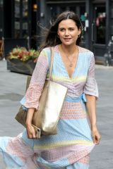 Lilah Parsons Seen arriving at the Global Radio studios in London for her show on Heart FM