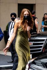 Anna Osceola Steps out of her hotel in New York