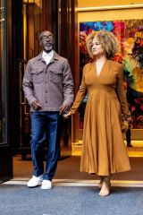 Bridgid Coulter Steps out for date night in New York
