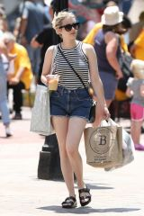 Emma Roberts Out shopping at the open market in Boston