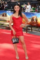 """Vanessa Baur Attends the """"Off The Rails"""" World Premiere at Odeon Luxe Leicester Square in London"""