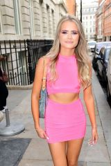 Lilly-Sue McFadden Kerry Katona's daughter is pictured looking pretty in pink while seen out in Soho, London