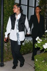 Kehlani & Lyv Riley Arrive at Justin Bieber's business grand opening in Los Angeles