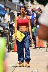 """Teyana Taylor On the set of """"A Thousand and One"""" in Harlem in New York City"""