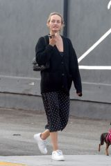 Amber Valletta Is pictured out on a stroll in Los Angeles