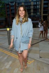 Brooke Vincent Puts on a leggy display as she enjoys a night out with friends at Menagerie in Manchester