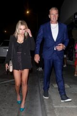 Emma Krokdal Heads out for the evening after dinner at Catch LA in West Hollywood