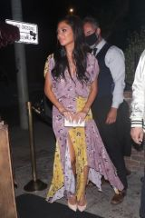 Nicole Scherzinger In a floral dress as she enjoys another night out at Delilah in West Hollywood