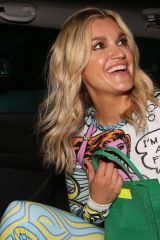 Ashley Roberts In a very explicit position as she leaves VIP private view of Van Gogh: The Immersive Experience in London