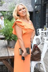 Kristina Rihanoff Gets ready for a glamorous night out with friends in Richmond in London