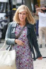 Kate Garraway Steps out at Smooty radio wearing a fabulous floral print dress in London