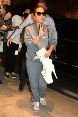 Lady Gaga Greets waiting fans as she returns to her hotel from Radio City Hall in New York