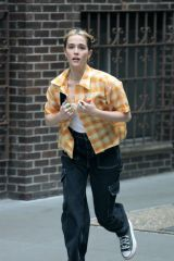 Zoey Deutch Seen on set filming for 'Not Okay' in New York