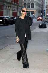 Rihanna Leaves little to the imagination as she matches her colors with her boyfriend ASAP ROCKY during a shopping trip in NY
