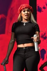 Saweetie Performs on the Daytime Stage at the 2021 iHeartRadio Music Festival at AREA15 in Las Vegas