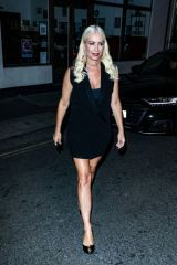 Denise Van Outen Enjoys after show drinks with the cast of Proud's Cabaret All Stars in London