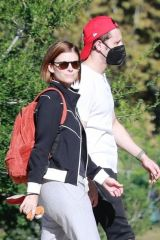 Kate Mara & Jamie Bell make one happy family while riding the carousel with their daughter in Los Feliz
