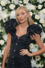 Clara Paget Attends an intimate dinner and party hosted by British Vogue and Tiffany & Co. at The Londoner Hotel in London