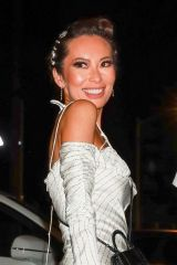 Christina Chiu Was seen arriving with her husband for a dinner at Craig's in West Hollywood