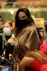 Angelina Jolie & her daughter Zahara were spotted grocery shopping at Erewhon in West Hollywood