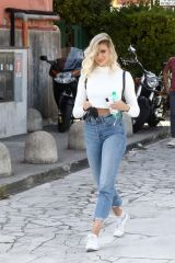 Tove Villfor Arriving at rehearsals for 'Dancing With The Stars 16' in Rome