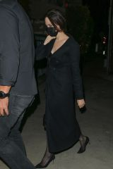 ngelina Jolie & The Weeknd are seen leaving together after having dinner at Giorgio Baldi restaurant in Santa Monica