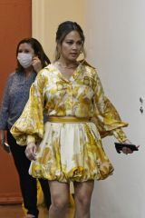 Vanessa Lachey Seen exiting ABC studios after promoting her new show NCIS: Hawaii