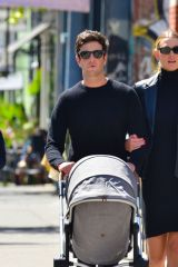 Karlie Kloss & husband Joshua Kushner are all smiles as they step out with their baby for lunch in New York City