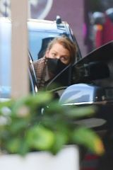 Blake Lively Drives herself and family home after a visit to a nail salon in Tribeca in New York City