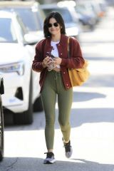Lucy Hale Is pictured heading to a gym in Los Angeles