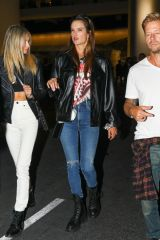 Alessandra Ambrosio Looks stylish stepping out with friends to attend The Rolling Stones concert in Los Angeles