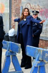 Mariska Hargitay On the set of 'Law and Order: Special Victims Unit' in Red Hook, Brooklyn