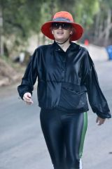 Rebel Wilson Continues to work on her weight loss with a solo hike in the hills of Los Angeles