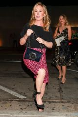 Kathy Hilton Is seen arriving for a family get-together at Craig's in West Hollywood