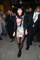 Lily Allen Leaving the Noel Coward Theatre after her final performance in London