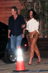 Cindy Crawford Exits a friend's party at Soho House in Malibu