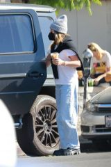 Ashley Tisdale As she makes a quick stop to get herself some iced coffee while out in Los Feliz