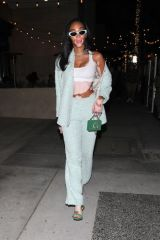 Winnie Harlow Is seen stepping out for a dinner date with a mystery man in Beverly Hills