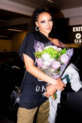 Tinashe Is showered in flowers after performing at her show in Los Angeles
