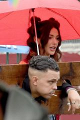 Michelle Keegan Filming Brassic TV Series in Manchester