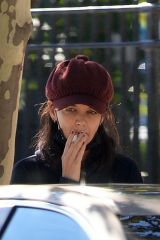 Katie Holmes Spotted smoking in a park in Brooklyn