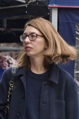 Sofia Coppola Walks her dog in the West Village in New York City