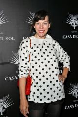 Milla Jovovich At the Brian Bowen Smith's Drivebys Book Launch And Gallery Viewing in Los Angeles