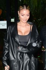 Chloe Sims Pictured leaving Amazonico Restaurant in London