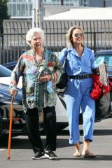 Melora Hardin Seen walking in with her parents on Thursday at the dance studio in Los Angeles