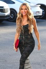 """Chrishell Stause Films a scene for her show """"Selling Sunset"""" on Sunset Blvd in West Hollywood"""