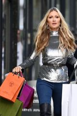 Caprice Heads home from exclusive Harry's Bar with presents in London